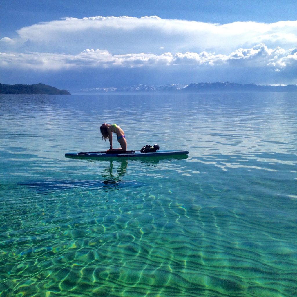 Paddleboard Yoga On Lake Tahoe The Ultimate Activity In Wellness Tahoemagazine